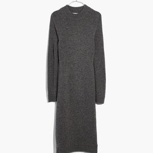 Cashmere Midi Sweater Dress XS Gray